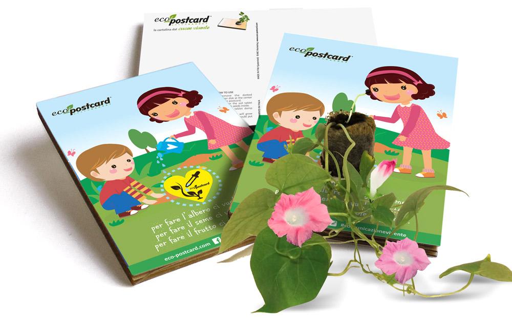 Le Eco-Postcard germogliano con l'app ABC Urrà!